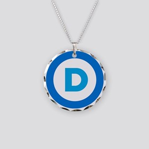 Democratic Necklace Circle Charm