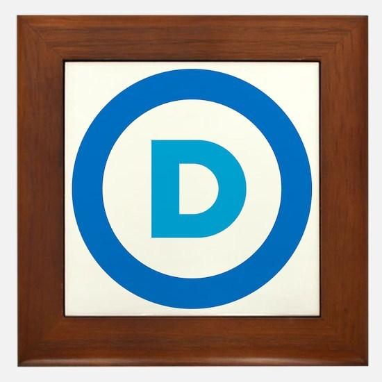 Democratic Framed Tile