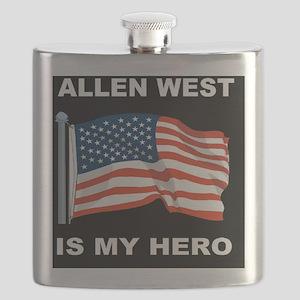 ALLEN WEST FLAGBUTTON Flask