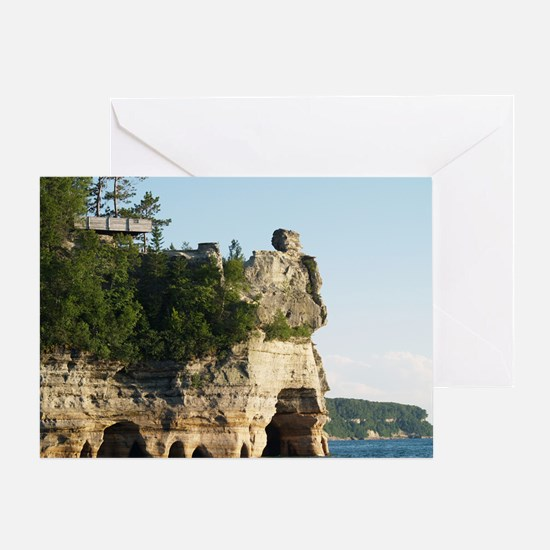 Pictured Rocks C Greeting Card