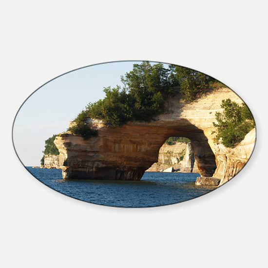 Pictured Rocks Sticker (Oval)