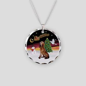 NightFlight-BLoodhound Necklace Circle Charm