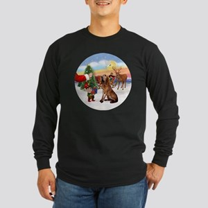 Treat for a Bloodhound Long Sleeve Dark T-Shirt