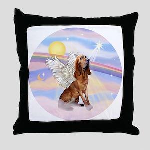Clouds-BloodhoundAngel Throw Pillow