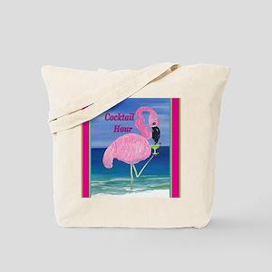 Flamingo Cocktail Hour Tote Bag
