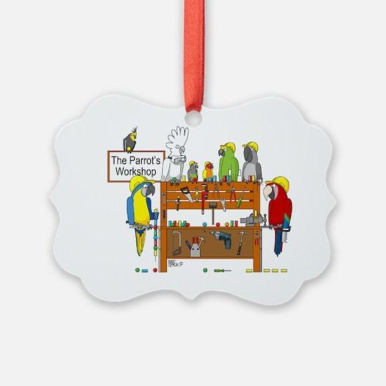 The Parrot's Workshop Logo Ornament