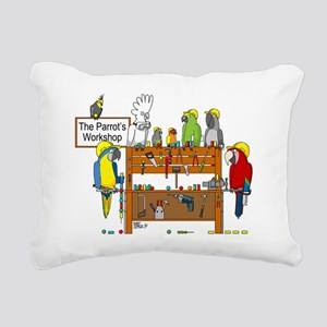 The Parrot's Workshop Lo Rectangular Canvas Pillow