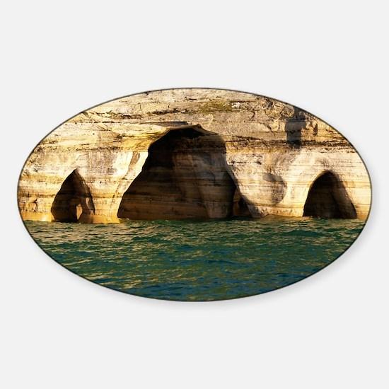 Pictured Rocks D Sticker (Oval)