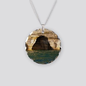 Pictured Rocks D Necklace Circle Charm