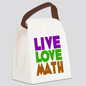 LIVE LOVE MATH Canvas Lunch Bag