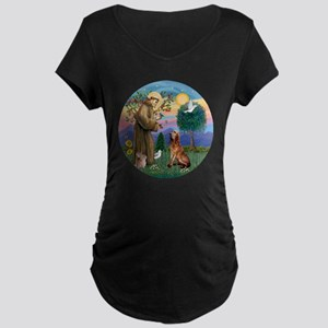 St. Francis - Bloodhound Maternity Dark T-Shirt