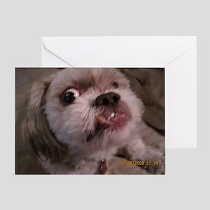 Mister Teeth Stink Eye Greeting Card