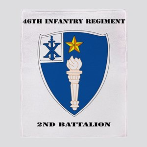 DUI - 2nd Battalion - 46th Infantry  Throw Blanket