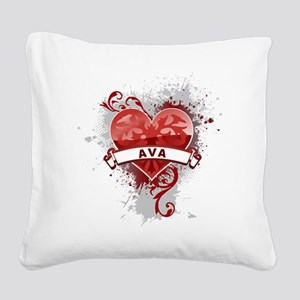 Love Ava Square Canvas Pillow