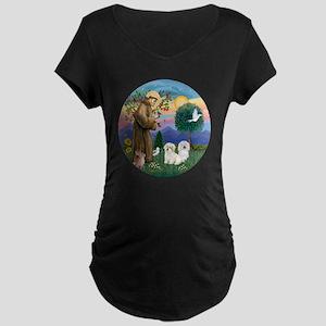 R-StFrancis-TWO Coton de Tu Maternity Dark T-Shirt