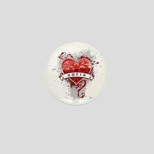 Love Sofia Mini Button