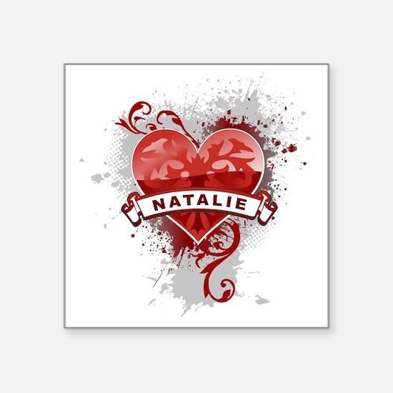 "Love Natalie Square Sticker 3"" x 3"""