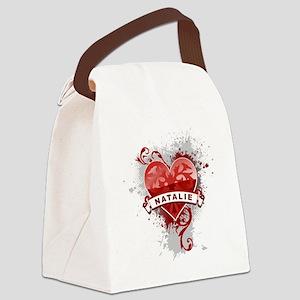 Love Natalie Canvas Lunch Bag