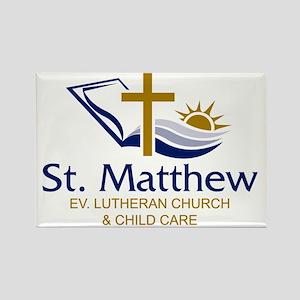 St. Matthew Logo Rectangle Magnet
