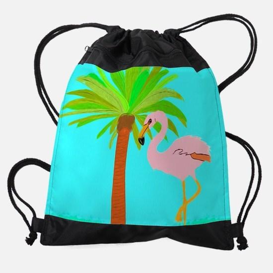 Funny Flamingo Drawstring Bag
