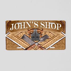 Johns Shop Aluminum License Plate