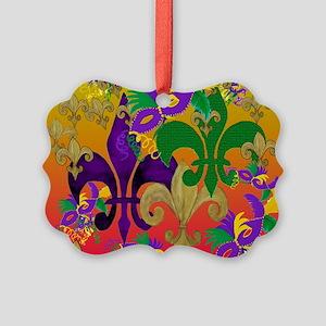 Mardi Gras Blast Picture Ornament