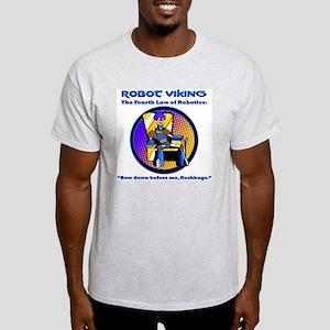 Robot Viking - 4th Law Light T-Shirt