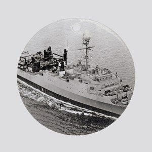 uss point defiance calendar Round Ornament