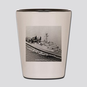 uss point defiance framed panel print Shot Glass