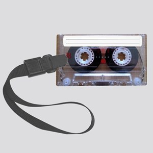 Cassette Music Tape Large Luggage Tag