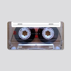 Cassette Music Tape Aluminum License Plate