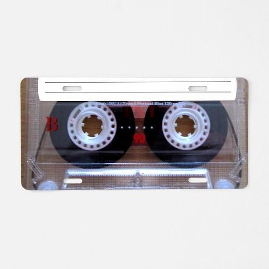 Cassette Music Tape Aluminum License Plate