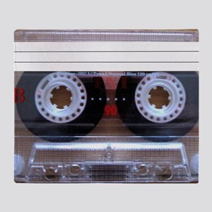 Cassette Music Tape Throw Blanket