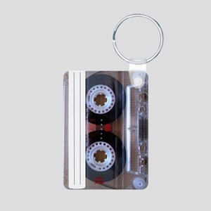Cassette Music Tape Aluminum Photo Keychain