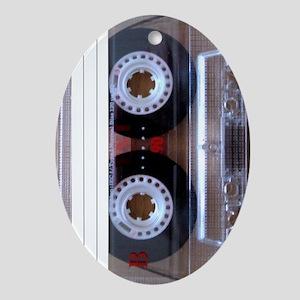 Cassette Music Tape Oval Ornament