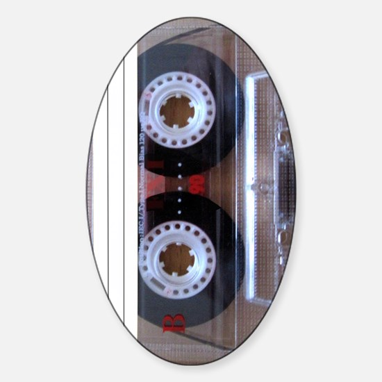 Cassette Music Tape Sticker (Oval)