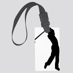 Golf player Large Luggage Tag