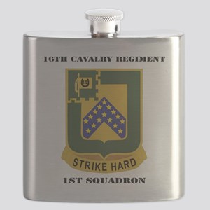 DUI - 1st Squadron - 16th Cavalry Regiment w Flask