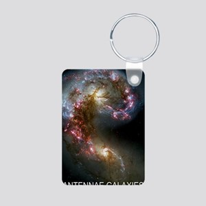 Antennae Galaxies Aluminum Photo Keychain