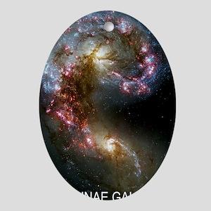Antennae Galaxies Oval Ornament