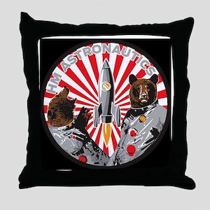 hm medalion black tee Throw Pillow