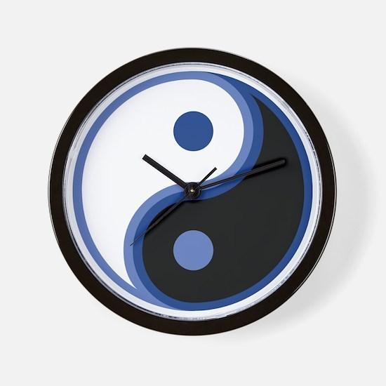 Yin Yang, Blue Wall Clock