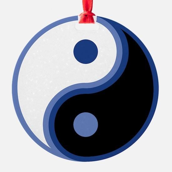 Yin Yang, Blue Ornament