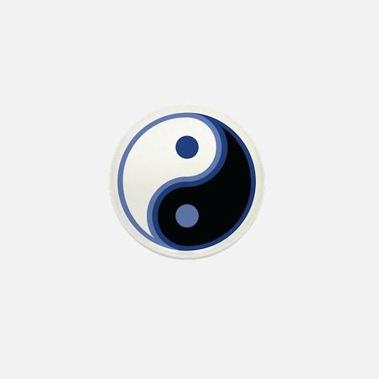 Yin Yang, Blue Mini Button