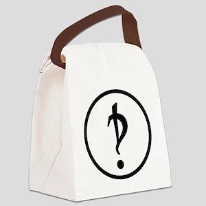 Interrobang Logo Canvas Lunch Bag
