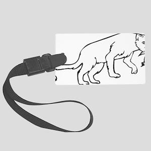 0084_Lion103 Large Luggage Tag