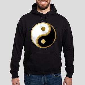 Yin Yang, Gold Hoodie (dark)