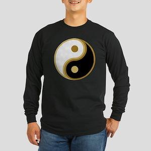 Yin Yang, Gold Long Sleeve Dark T-Shirt