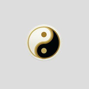 Yin Yang, Gold Mini Button