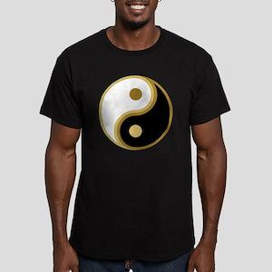Yin Yang, Gold Men's Fitted T-Shirt (dark)